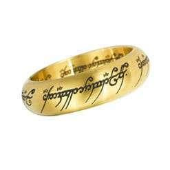 Anel de Sauron Dourado Senhor dos Anéis com expositor Réplica Oficial
