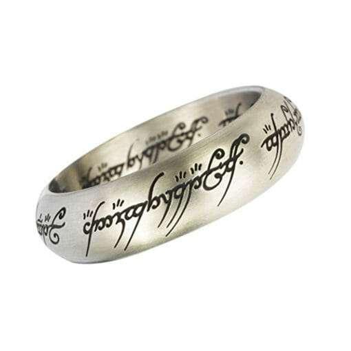 Anel de Sauron Prata Senhor dos Anéis com expositor Réplica Oficial