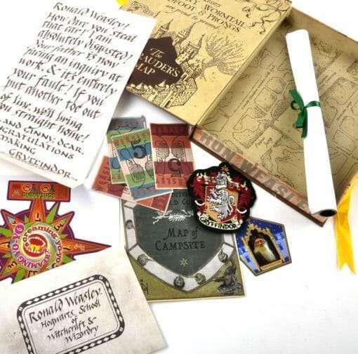 CAIXA DE ARTEFATOS RON WEASLEY OFICIAL NOBLE COLLECTION3 510x504 - Caixa de Artefatos Ron Weasley Oficial