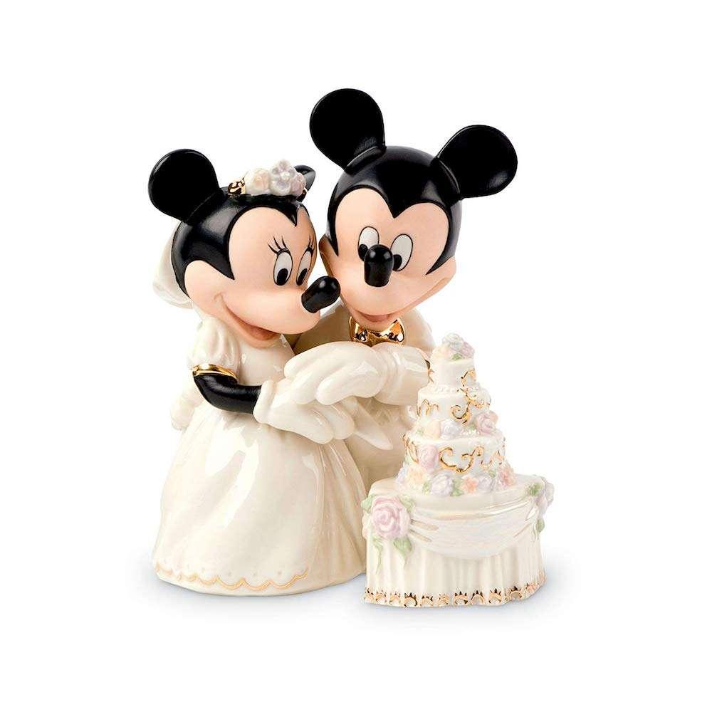 3293130c362 Estátua Ornamento Mickey   Minnie Bolo de Casamento Disney