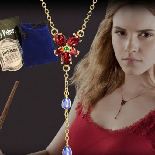 Colar Hermione Cristal Vermelho Réplica Oficial