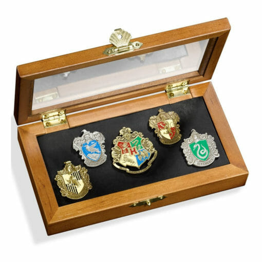 Conjunto 5 pins harry potter noble collection1 510x510 - Conjunto 5 Pins Casas de Hogwarts Oficial Harry Potter