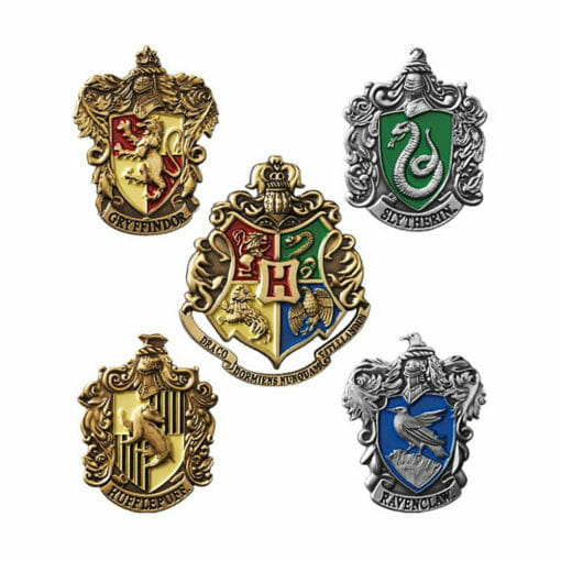 Conjunto 5 pins harry potter noble collection2 510x510 - Conjunto 5 Pins Casas de Hogwarts Oficial Harry Potter
