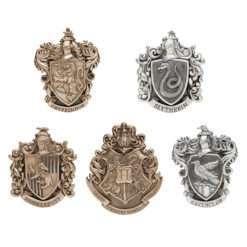 Conjunto 5 Brasões casas de Hogwarts Oficial