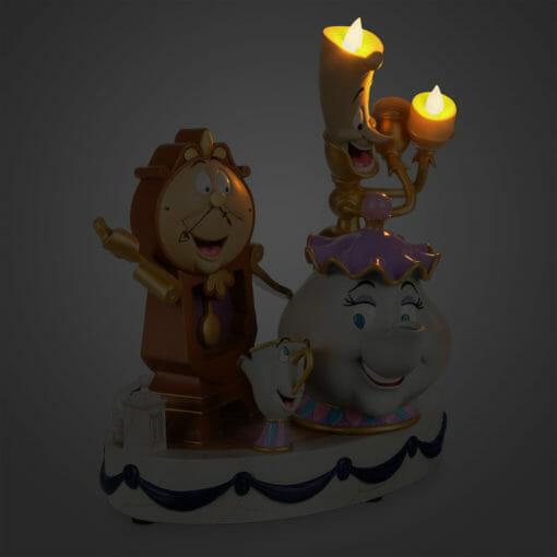Estátua Objetos Encanados A Bela e a Fera Oficial Disney