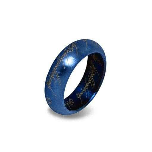 Anel de Sauron Azul Senhor dos Anéis com expositor Réplica Oficial