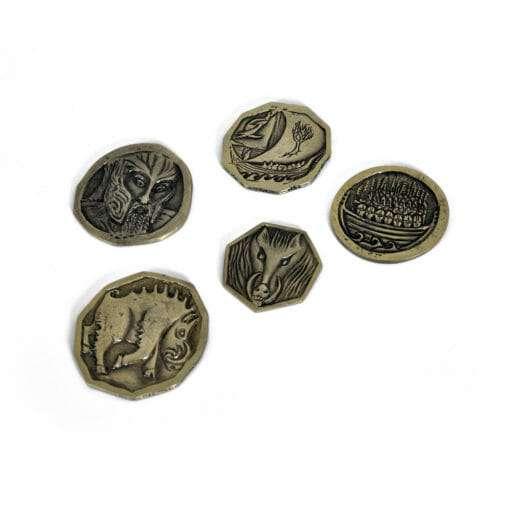 5 moedas Hobbit Tesouro de Smaug Réplica Oficial