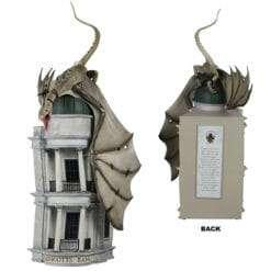 Estátua Banco de Gringotes com Dragão Harry Potter Oficial
