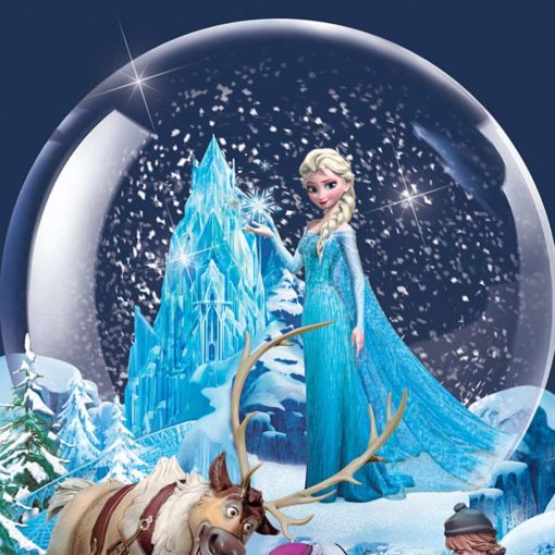 Globo de Neve Musical Disney Frozen Uma Aventura Congelante