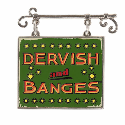 L Dervish And Banges Sign Dangle Pin 1269681 - Pin Placa Dervish And Banges Oficial Harry Potter
