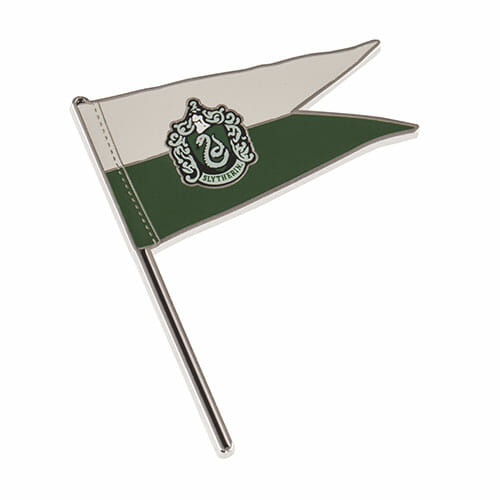 L Slytherin Pennant Pin 1267056 - Pin Bandeira Sonserina Oficial Harry Potter