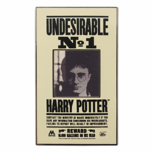L Undesirable No 1 Pin 1248449 - Pin Harry Potter Placa Indesejado Efeito 3D