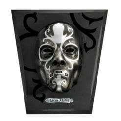 Máscara Comensal da Morte Lúcio Malfoy com expositor