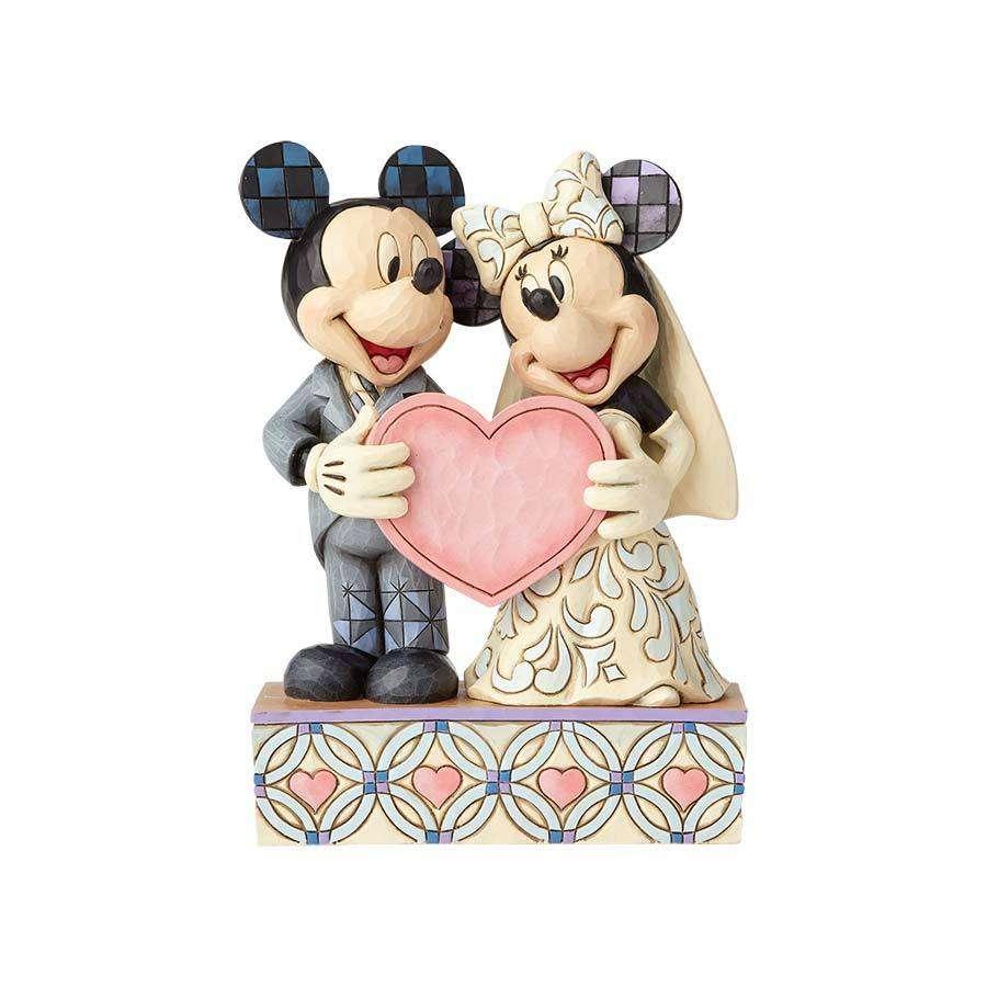 0b5ec601c5d Casamento Mickey   Minnie Personalizável Disney Traditions Jim Shore