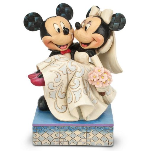 Mickey e Minnie Casamento Jim Shore Disney Congratulatios 510x510 - Casamento de Mickey e Minnie Disney Traditions Jim Shore