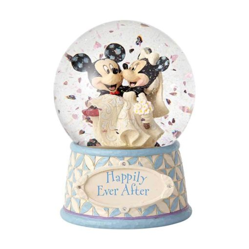 Globo de Neve Casamento Mickey e Minnie Disney Jim Shore