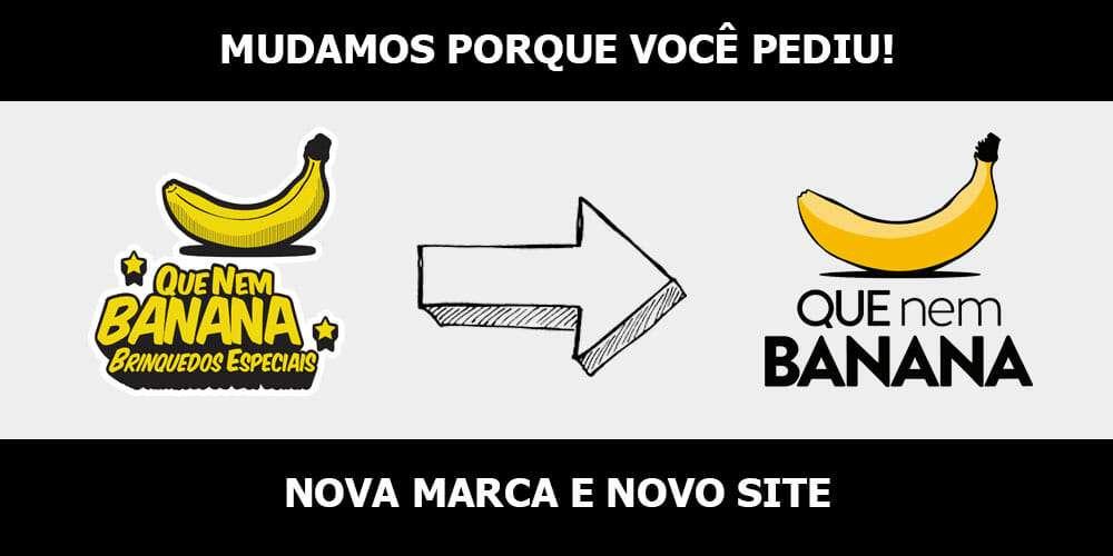 NOVA MARCA - Que Nem Banana de cara nova com a estreia do novo site.