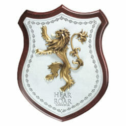 PLACA BRASAO LANNISTER GAME OF THRONES OFICIAL HBO NOBLE COLLECTION 247x247 - Brasão 3D casa Lannister Game of Thrones Oficial