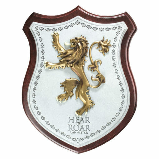 PLACA BRASAO LANNISTER GAME OF THRONES OFICIAL HBO NOBLE COLLECTION 510x510 - Brasão 3D casa Lannister Game of Thrones Oficial