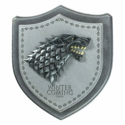 PLACA BRASAO STARK GAME OF THRONES OFICIAL HBO NOBLE COLLECTION 247x247 - Brasão 3D casa Stark Game of Thrones Oficial