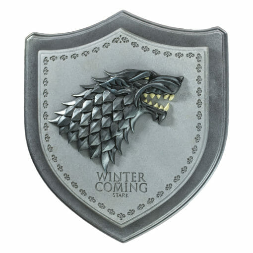 PLACA BRASAO STARK GAME OF THRONES OFICIAL HBO NOBLE COLLECTION 510x510 - Brasão 3D casa Stark Game of Thrones Oficial
