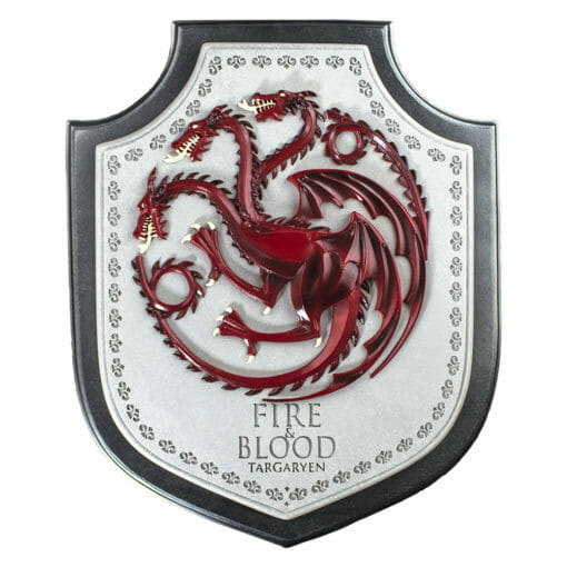 PLACA BRASAO TARGARYEN GAME OF THRONES OFICIAL HBO NOBLE COLLECTION2 510x510 - Brasão 3D casa Targaryen Game of Thrones Oficial