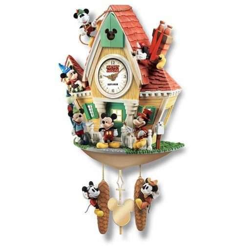 Relogio de Parede Mickey e amigos 510x510 - Relógio Cuco Disney Mickey Mouse Através dos Anos