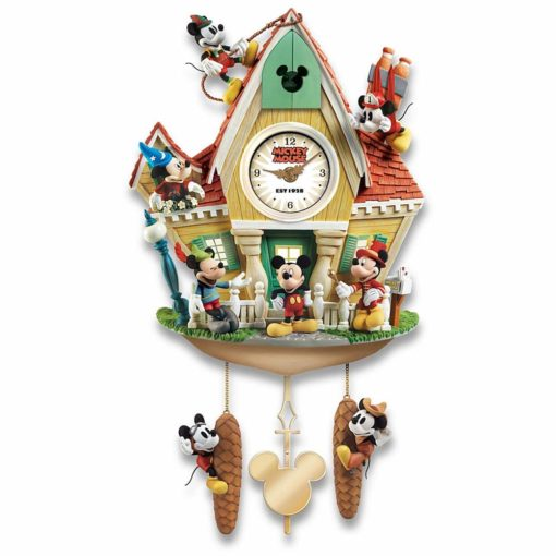 Relógio Cuco Disney Mickey Mouse Através dos Anos