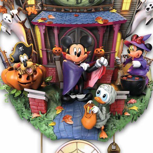 Relogio de parede Disney Mickey Halloweem3 510x510 - Relógio Cuco Disney Festa de Halloween Mickey
