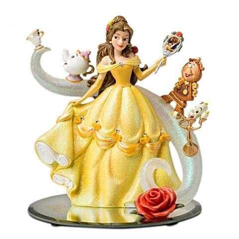 bela e a fera edicao limitada - Escultura Disney Bela um conto de encantamento