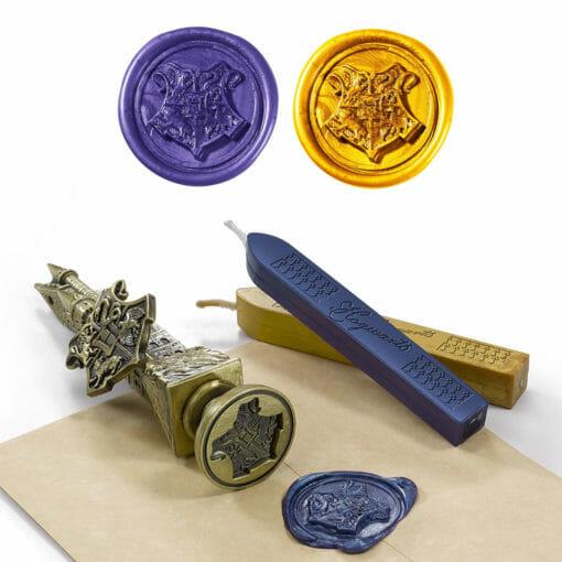 Kit Carimbo Selador de Cartas Hogwarts Oficial