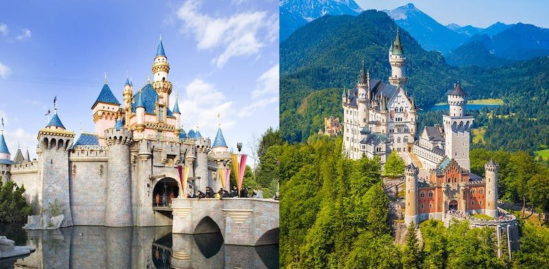 castelo disney comparacao 800x393 - Review Castelo Cinderela Disney Versão Diorama