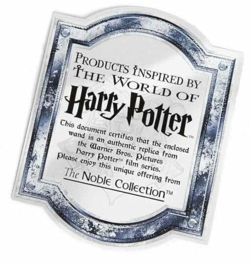 certificado harry potter noble collection 1 758x800 510x538 - Varinha Harry Potter Oficial Versão Olivaras