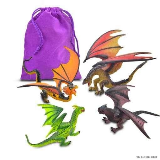 kit 4 dragoes e bolsa torneio tribruxo harry potter universal studios 701 1 20151018173729 510x510 - 4 Dragões Torneio Tribruxo Brinquedo Oficial